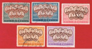 Cuba #577-581 VF used  Generals  Free S/H