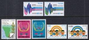 UN Geneva 82-88 Year Set for 1979 MNH VF