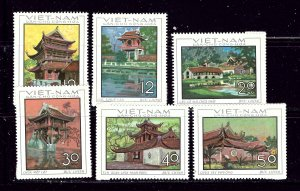 North Vietnam 521-26 MNH 1968 Architecture