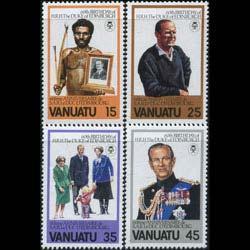 VANUATU 1981 - Scott# 304-7 Duke Ed. Set of 4 NH