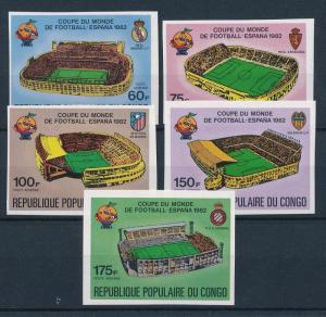 [43625] Congo Brazzaville 1980 World Cup Football Soccer Spain Imperforated MNH