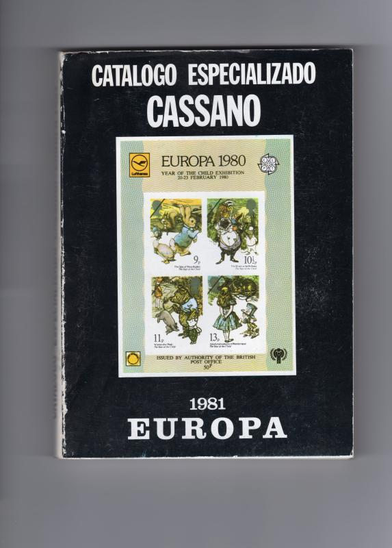 EUROPA CEPT specialized stamp catalogue 1981 by CASSANO & MARINO MONTERO 400 Pag