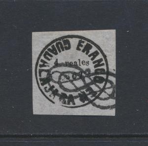 MEXICO GUADALJARA 1867, 4R WOVE PAPER, VF USED Sc#18a CAT$1000 (SEE BELOW)
