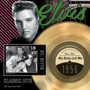 St Kitts - 2013 Elvis Presley My Baby Left Me Stamp S/S STK1305