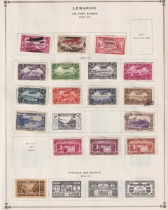 LEBANON - INTERESTING MINT & USED COLLECTION ON ALBUM PAGES - Z290