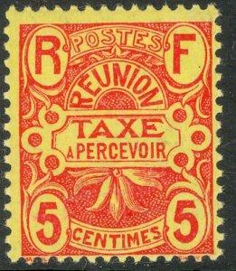 REUNION 1907 5c Carmine POSTAGE DUE Sc J6 MNH