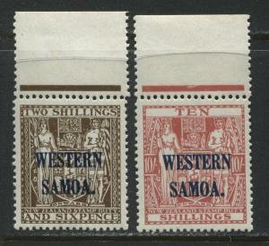 Samoa 1935 overprinted Western Samoa 2/6d and 10/ mint o.g.