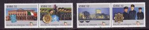 Ireland-Sc#1045-8-unused NH set-Irish State anniversary-Flags-1997-