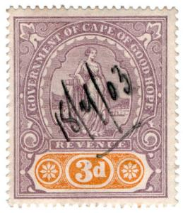 (I.B) Cape of Good Hope Revenue : Stamp Duty 3d
