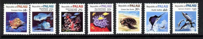 Palau 75-85 MNH  Fish, Turtle, Shell, Coral, Dolphin