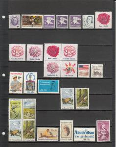 28 DIFFERENT US MNH 18 CENT STAMPS FROM 1399/2149 2019 SCV $13.20