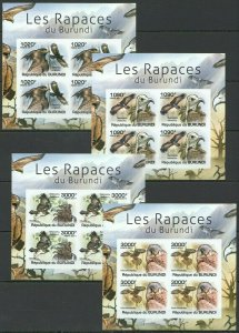 W1084 IMPERFORATE 2011 BURUNDI FAUNA BIRDS OF PREY RAPACES BURUNDI !!! 4KB FIX