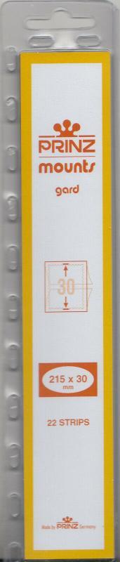 PRINZ CLEAR MOUNTS 215X30 (22) RETAIL PRICE $7.99