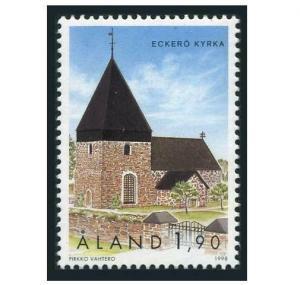 Finland-Aland 88,MNH.Michel 148. Churches:Eckero,1998.