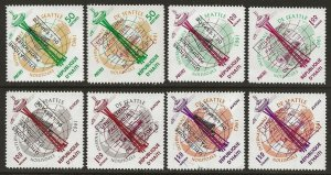 Haiti 1963 Space Complete Ovpt Set of 8 values VF-NH CV $10.40