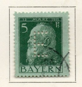 Bayern Bavaria 1912 Early Issue Fine Used 5pf. NW-120691