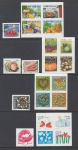 Sweden Sc 2590/2605 MNH. 2008-09 issues, 4 complete sets, fresh, bright, VF.
