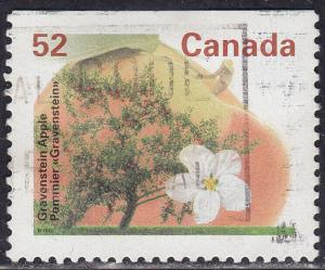 Canada 1366as USED 1995 Gravenstein Apple Tree 52