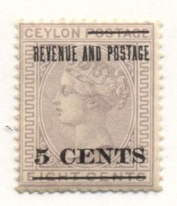 CEYLON #124 Mint hinged, Scott $27.50