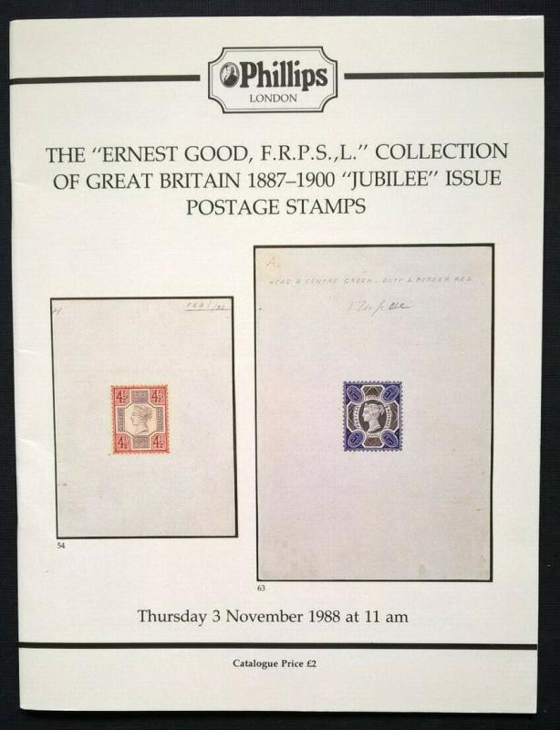 Auction Catalog ERNEST GOOD Great Britain 1887-1900 JUBILEE ISSUE Queen Victoria