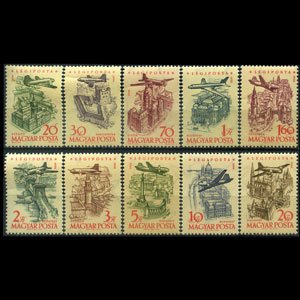 HUNGARY 1958 - Scott# C191-200 Buildings Set of 10 NH