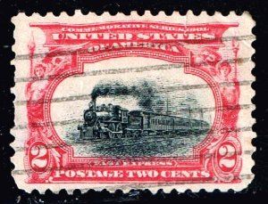 US STAMP #295 2c 1901 Pan- American Used TRAIN SHIFT DOWN