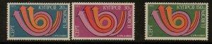 CYPRUS SG403/5 1973 EUROPA MNH