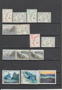 FAROE ISLANDS **7-20 MNH 2019 SCOTT CATALOGUE VALUE $13.00