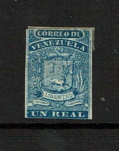 Venezuela SC# 2, Mint Hinged, Hinge Remnants, very sm shallow ctr thin - S12249