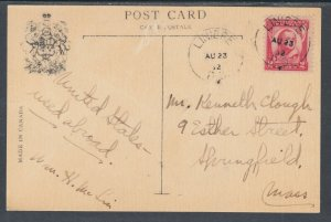 US Sc 690 used abroad from Canada on 1932 PPC