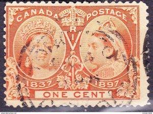 CANADA 1897 QV 1 Cent Orange Jubilee SG122 Used