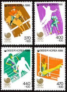 Korea B31a-B34a set/4 mnh 1986 Seoul Olympics