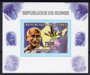 Guinea 2006 Mi#4264 Mahatma GANDHI Humanitarians Deluxe S/S Imperforated MNH