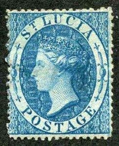 St Lucia SG2 (4d) Blue wmk star Fresh M/Mint