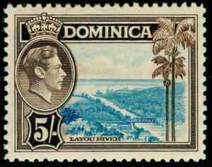 DOMINICA SG108, 5s light blue & sepia, M MINT. Cat £18.