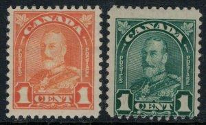 Canada #162-3*  CV $3.25