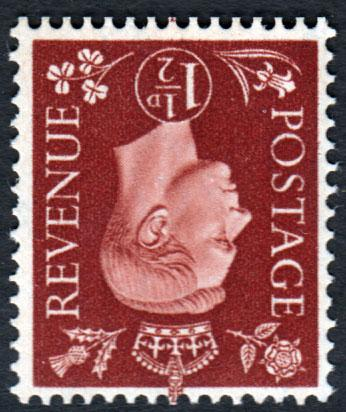 GB KGVI 1937 1.5d Red-Brown SG464Wi Wm Inverted Mint Never Hinged MNH UMM