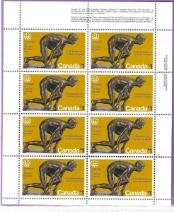 1975    CANADA  -  SG. 801 SHEETLET   -  SUMMER OLYMPICS  -  MNH