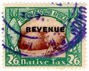 (I.B) South Africa Revenue : Native Tax 2/6d (English)