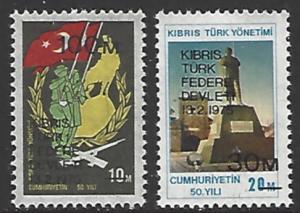 Northern Cyprus #8-9 MNH Set of 2 cv $4.50