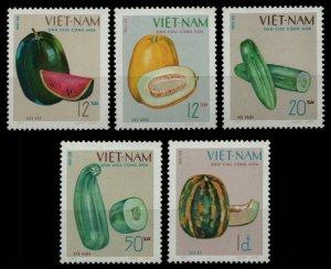 Vietnam 1970 MNH Stamps Scott 590-594 Fruits