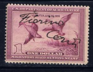 U.S. RW5 Used 1938 Duck Stamp