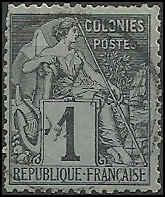 French Colonies  - 46 - Used - SCV-4.75