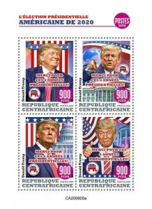 Stamps CENTRAL AFRICAN REP. (Centrafrique) 2020. - DONALD TRUMP