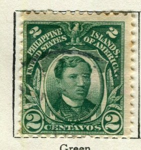 PHILIPPINES; 1908 early Portrait series issue used 2c. value