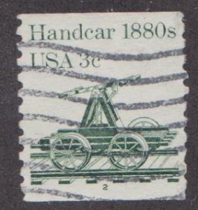 US #1898 Handcar Used PNC Single #2