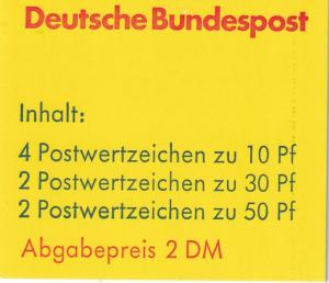 Germany #1231a Complete Booklet CV $9.00 (A19954)