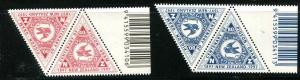 1435 - 1436 New Zealand - Pigeon Post Centenary Tab Pairs MNH Birds