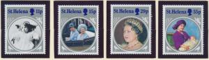 St. Helena Stamp Set Scott #428-31, Mint Never Hinged MNH, Queen Mother SS - ...