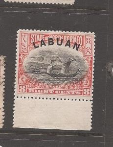 Labuan SG 94c MNH (10auq) light toning in one place at back